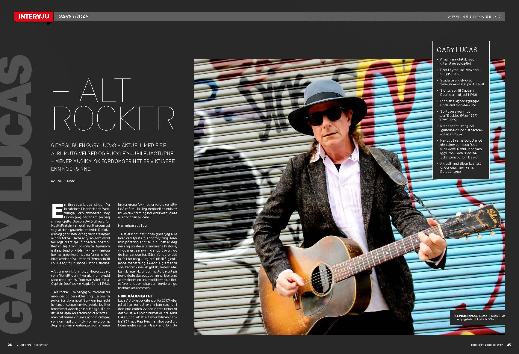 gary lucas official website